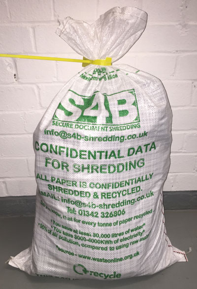 Document Shhredding - ad hoc bag service